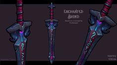 Enchanted Sword, Mathilde Calon on ArtStation at https://www.artstation.com/artwork/nkPO
