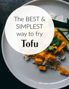 How to fry tofu - a simple tutorial that takes frying tofu to a whole new and easier level! Plus a selection of awesome fried tofu recipes #vegan #tofu Tofu Recipes, Vegetarian Recipes Easy, Syn Free Breakfast, Frugal Family, Slimming World Recipes, Budget Meals, Beautiful Space, Fries
