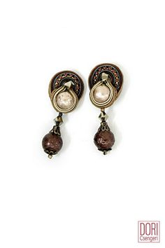 day to evening chic ear clips. #doricsengeri #smallearrings #pearls #casual #Brown #Design