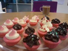 In my spare time I bake cupcakes!