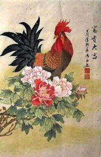 Chinese Peony Painting,69cm x 46cm,2345008-x