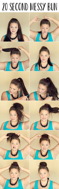 20 Second Messy Bun | Guest Post by Three in Three