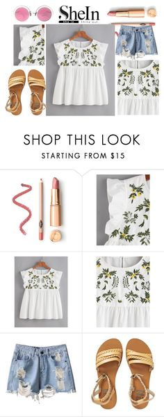 """""""Flower Embroidered Buttoned Keyhole Ruffle Babydoll Top"""" by anchesky23 on Polyvore featuring Billabong and Christian Lacroix"""