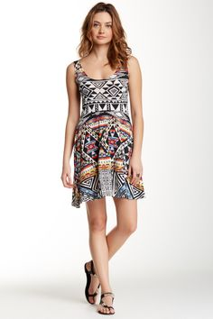 Printed Skater Dress by Angie on @nordstrom_rack