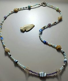 Amazonite Clay Indian Necklace
