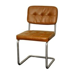 Shop for New Pacific Direct 428133P-C-BS Bauer Tufted Chair Brushed Stainless Legs, Caramel (Set of 2) Stainless Steel. Overall Dimensions (Inches): 19W, 22D, 33.5H.