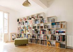 Ideas para ubicar la biblioteca en tu hogar - http://www.decoora.com/ideas-para-ubicar-la-biblioteca-en-tu-hogar.html