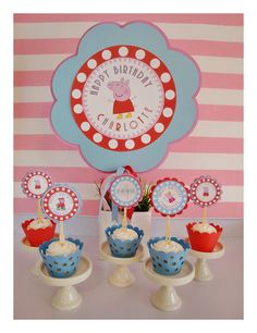 "Peppa Pig decorations -- Belle would LOVE this!! She hearts ""Peppa"" in a BIG way! :)"
