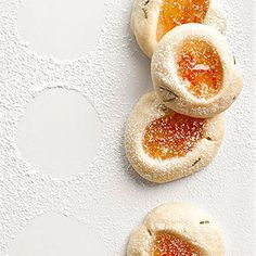 Rosemary Kissed Orange Thumbprint Cookies Tuscano