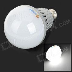 ZDM E27 20W 1800lm 6000K 40-SMD 5730 LED White Light Bulb - White + Silvery Grey (AC 220V)