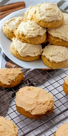 pumpkin cookies These Soft Pumpkin Cookies with Pumpkin Browned Butter Frosting are phenomenal . you better hide all of the spoons in your house the frosting is that amazing! Dont say I didnt warn you! Soft Pumpkin Cookies, Pumpkin Cookie Recipe, Pumpkin Dessert, Pumpkin Recipes, Cookies Soft, Vegan Pumpkin, Pumpkin Cheesecake, Zumbo Desserts, Gourmet Recipes