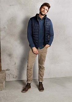 Pánska jeseň: Pohodlná móda pre štýlových pánov – v Tchibo Denim Button Up, Button Up Shirts, Jackets, Tops, Fashion, Moda Masculina, Men's, Down Jackets, Moda