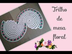 Versão destros: Trilho de mesa floral ( 2° parte final ) # Elisa Crochê - YouTube