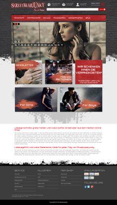 E-Commerce Webdesign made by 4market | www.4market.de/ | Onlineshop für Streetfashion