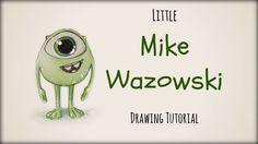 Drawing Tutorial ❤ Little Mike Wazowski
