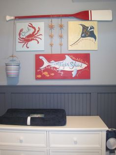 Beach theme. For the kids room at the beach house.