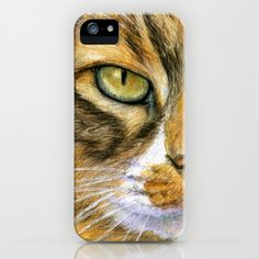 Calico Cat 817 iPhone Case by S-Schukina - $35.00
