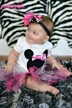 Minnie Mouse Tutu Outfit by Rosalie82 on Etsy, $37.00