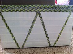 Pinterest inspired - Duck tape covered diaper box to store fabric.
