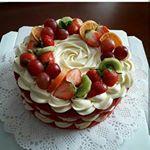 "204 Likes, 17 Comments - Ася (@bakery_torty) on Instagram: ""Доброе утро! 😊  Торт Павлова, спасибо за заказ! 🌹"""