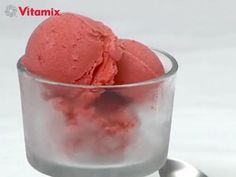 Vitamix Recipes. Raw Vegan Spiced Strawberry Ice Cream.