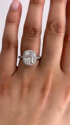 Cute Engagement Rings, Most Beautiful Engagement Rings, Cushion Cut Engagement Ring, Halo Engagement, Diamond Engagement Rings, Big Wedding Rings, Wedding Stuff, Dream Wedding, Wedding Ideas