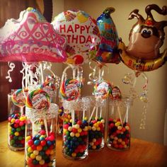 #Centerpieces for the party! #Candyland