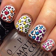 Rainbow Leopard Print by polishmepretty_nails | Preen.Me