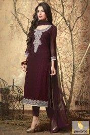 Brown Color Wholesale Salwar Suits