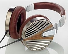 Zebrano Wood Headphones