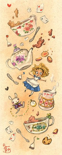 Down the Rabbit Hole for Tea by rue789.deviantart.com on @DeviantArt