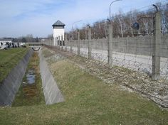 Dachau Concentration Camp fence once electrified to prevent prisoner escape