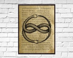 Triquetra old poster, Symbolic wall decor, Celtic print, dictionary print, ancient Holy Trinity book page art Book Page Art, Art Pages, Holy Symbol, Sacred Meaning, Paper Wall Decor, How To Age Paper, Norse Symbols, Triquetra, Thors Hammer