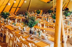 Wedding Tipi set for 85 seated guests