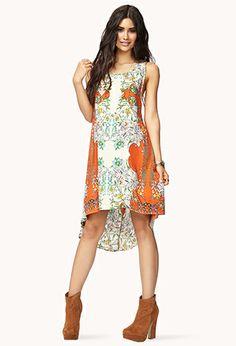 Botanical Goddess Cutout Dress   FOREVER21 - 2062237621