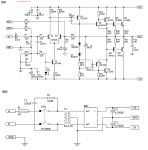 Circuit diagram of power amplifier built using power transistors. Power supply schematic provided, use heatsink to prevent overheat on the transistors. Diy Amplifier, Class D Amplifier, Car Audio Amplifier, Electrical Circuit Diagram, Speaker Plans, Electronic Circuit Projects, Diagram Design, Electronic Schematics, Circuit Design