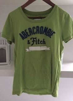 Kup mój przedmiot na #vintedpl http://www.vinted.pl/damska-odziez/koszulki-z-krotkim-rekawem-t-shirty/15812347-zielona-koszulka-tshirt-abercrombie-fitch-nowa
