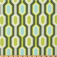 Heather Bailey Garden District Caiman Stripe Canvas Slate  $16.98 per Yard
