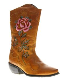 Look at this #zulilyfind! Camel Cheyenne Leather Boot by L'Artiste by Spring Step #zulilyfinds