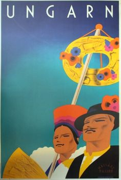 Hungary Ungarn, 1930s - original vintage poster by Mallasz-Dallos listed on AntikBar.co.uk