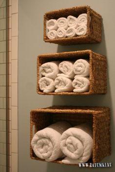 хранить полотенца в ванной