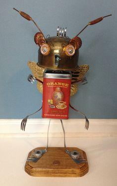 Baby ButterflyBot  Found Object Robot by slipslopslap on Etsy, $160.00