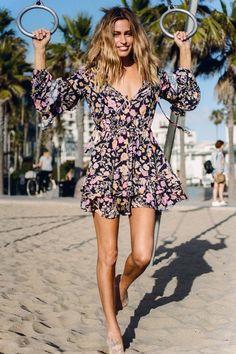 Sayulita Frill Mini Dress - Nightshade