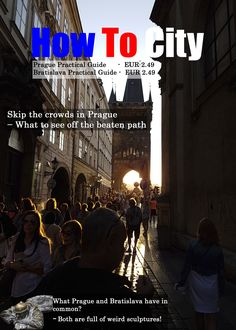 Ad for Prague and Bratislava Practical Guides by How To City. (Not the actual cover.)