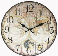 "13"" World Map Wall Clock"