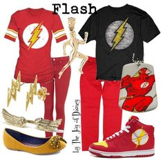 Casual outfits for Him & Her inspired by Flash from DC Comics!