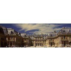 Facade of a palace Chateau de Versailles Versailles Paris Ile-de-France France Canvas Art - Panoramic Images (6 x 18)