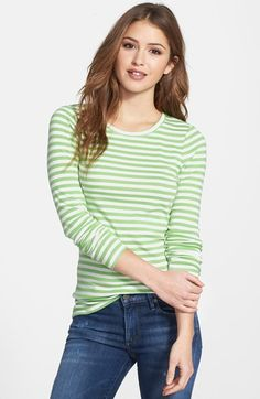 Free shipping and returns on Caslon® Long Sleeve Fine Ribbed Crewneck Tee (Regular & Petite) at Nordstrom.com. Finely ribbed for a soft feel, a wardrobe-staple tee is perfect for layering.