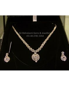 Diamond Necklace & Earrings