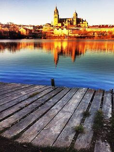 Salamanca... Unbelievably happy to come across this! Paddle boating across this river a few summers ago was wonderful!